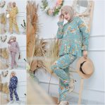 Baju Hijab Murah Rose Set