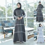 Baju Muslim Modern Polka Dress VG